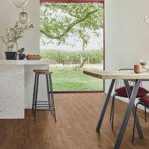 Oak laminate flooring / click-fit / wood look / home