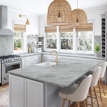 Quartzite countertop / kitchen / gray / square edge