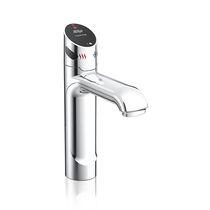 Washbasin mixer tap / countertop / chromed metal / electronic