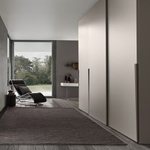 Wall-mounted wardrobe / contemporary / glossy lacquered wood / matte lacquered wood