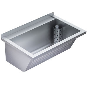 single-bowl kitchen sink / stainless steel / wall mount / commercial