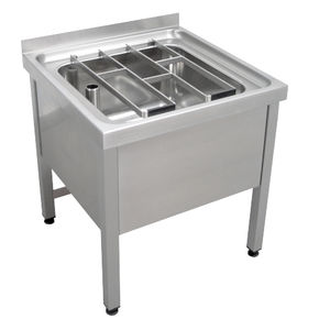 stainless steel kitchen sink cabinet / with legs