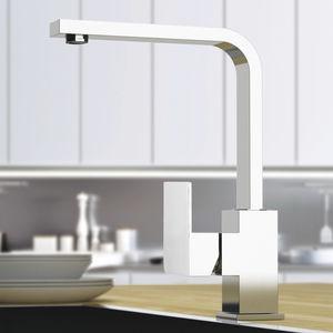 chrome-plated brass mixer tap / mechanical / kitchen / 1-hole