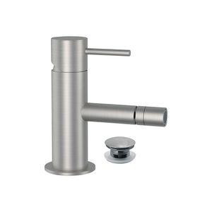 bidet mixer tap / deck-mounted / stainless steel / bathroom