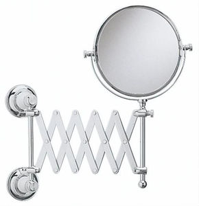 wall-mounted bathroom mirror / magnifying / swivel / double-sided