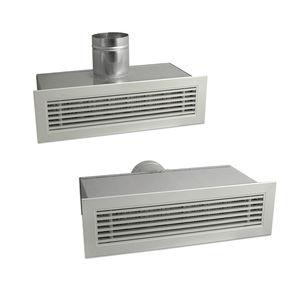 aluminum ventilation grill / rectangular / adjustable