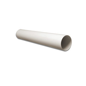 rigid air duct / PVC / thermally-insulated