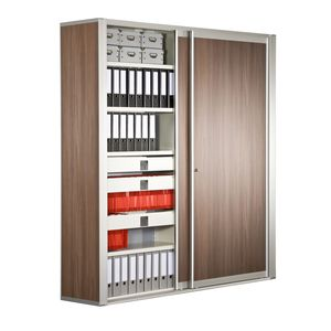 tall filing cabinet / low / steel / modular