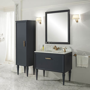 traditional bathroom / wooden / marble / lacquered