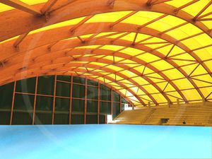 wooden frame tensile structure