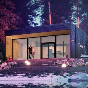 modular house / modern / wood / energy-efficient