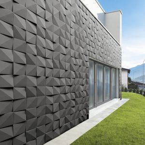 concrete wall cladding / outdoor / indoor / 3D
