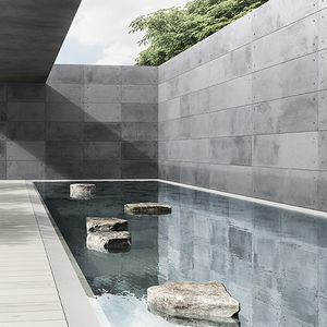 concrete wall cladding / outdoor / indoor / stone look