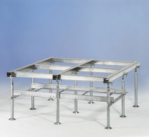 steel raised access floor structure
