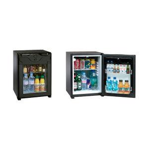glass-front minibar