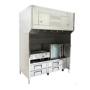 floor-mounted range hood / with built-in lighting / commercial