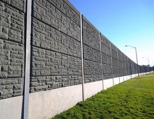 prefab noise barrier / lightweight concrete / for roads