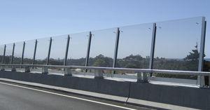 prefab noise barrier / concrete / for bridge construction