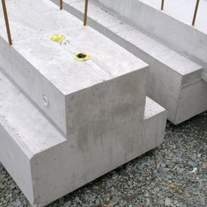 precast concrete beam / rectangular / edge / for flooring