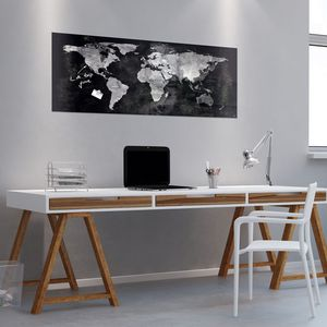 magnetic board / black / wall-mounted / glass