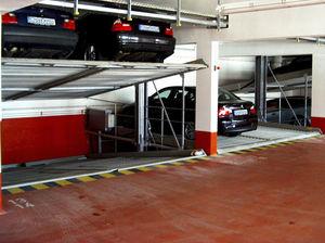 inclined parking platform