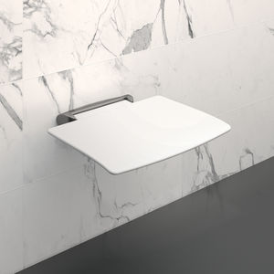 removable shower seat / wall-mounted / polymer / aluminum