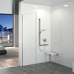 removable shower seat / wall-mounted / polymer / commercial