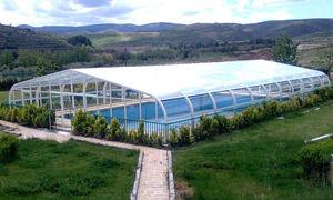 high swimming pool enclosure