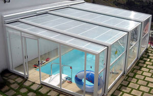 high swimming pool enclosure