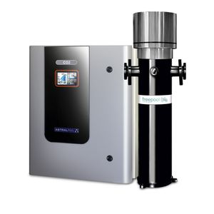 swimming pool salt chlorinator / with pH regulator