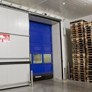 folding industrial doors / composite / PVC / automatic
