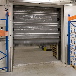 self-supporting industrial doors / folding / steel / PVC