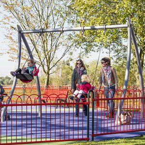 steel swing / playground / double