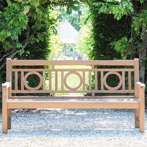 garden bench / traditional / teak / with backrest