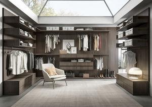 contemporary walk-in wardrobe