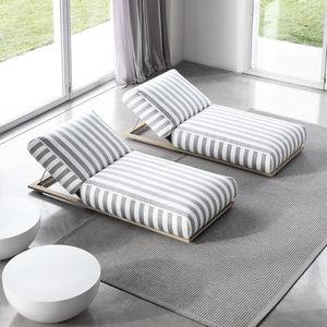 contemporary sun lounger / fabric / patio / garden