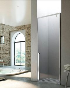 swing shower screen / pivoting / folding / for alcoves