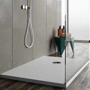 acrylic shower base / rectangular / raised / non-slip
