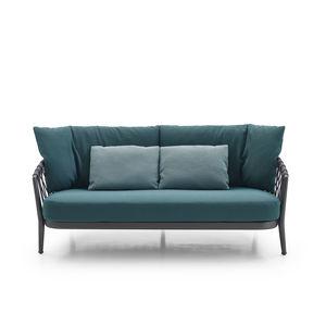 contemporary sofa / garden / fabric / synthetic fiber