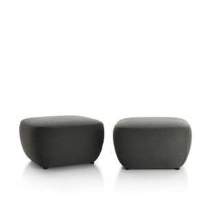 contemporary pouf / fabric / rectangular / upholstered