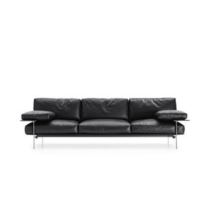 contemporary sofa / leather / by Antonio Citterio / by Paolo Nava