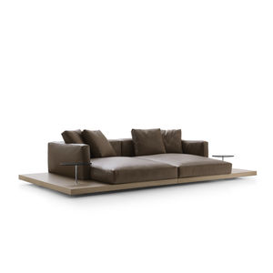 contemporary sofa / fabric / leather / by Piero Lissoni