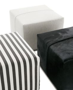 contemporary pouf / fabric / leather / by Antonio Citterio