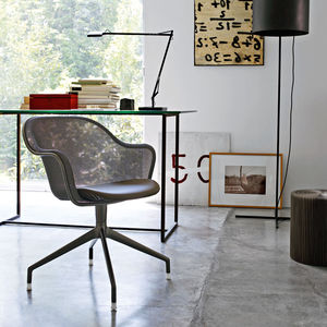 contemporary office chair / swivel / on casters / upholstered