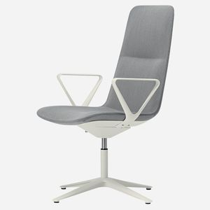 contemporary conference chair / upholstered / with armrests / star base