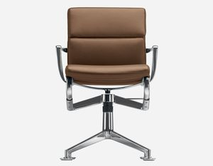 upholstered conference chair / with armrests / swivel / star base