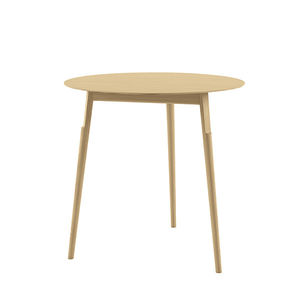 contemporary table / oak / solid wood / lacquered wood