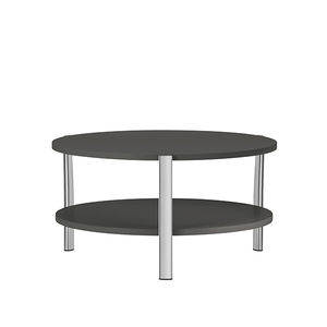 contemporary coffee table / lacquered MDF / aluminum base / round