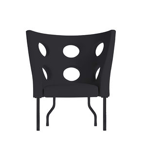 original design armchair / fabric / lacquered steel / with removable cover