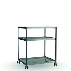 aluminum trolley / glass